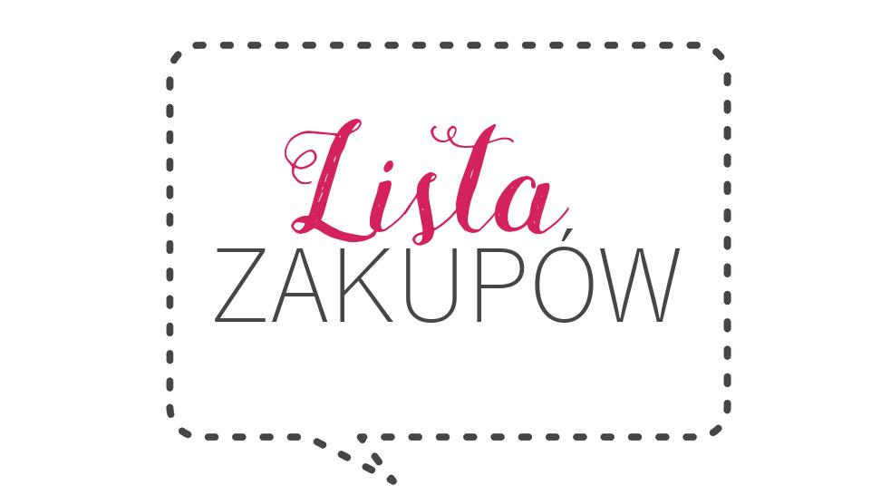 LISTA ZAKUPOW